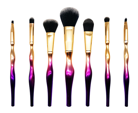 7Pcs Face Brush Make up Electroplate