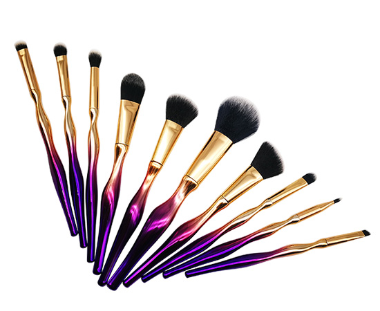 10pcs Brush Kit Women Shaped