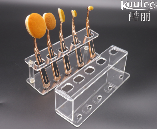 Acrylic 5Holes oval brush drying rack